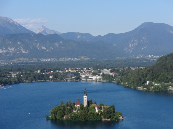 Lake Bled and surrounding town