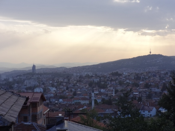 Sarajevo just before sunset