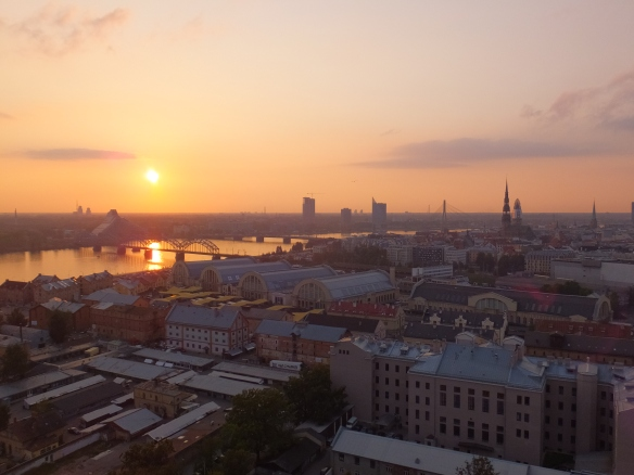 As seen from the Latvian Academy of Sciences observation deck